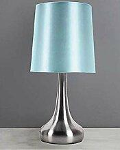 Rimini Lampe de chevet tactile Bleu canard
