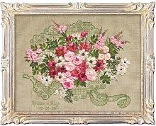 RIOLIS Kit de Point de Croix Motif Bouquet de