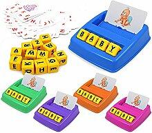 Riosupply Alphabets Jeu,Montessori Puzzle en