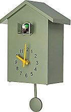 RIQWOUQT Horloge Murale Vert Coucou Coucou Horloge