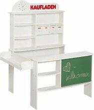Roba épicerie, bois blanc, stand de vente avec 4