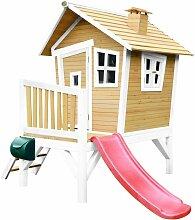 Robin Maison Enfant avec Toboggan Rouge   Aire de