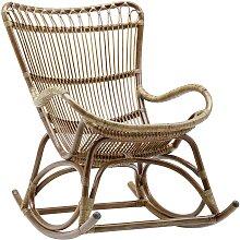 Rocking chair en rotin antique
