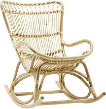 Rocking chair en rotin naturel