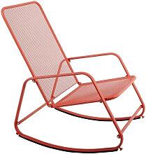 Rocking chair extérieur en acier Corail