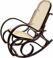 Rocking-chair fauteuil à bascule, couleur noyer,