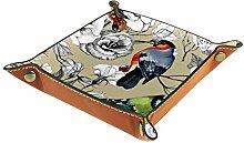 rodde Plateau de Rangement pour Bijoux,Aquarelle