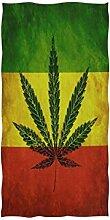 rodde Serviette de Bain Mains Cannabis De
