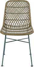 Rodos - Chaise en rotin et métal