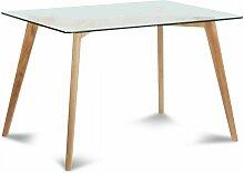 Rodrigo Narcis - Table à manger carrée verre et