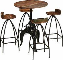 Rogal mobilier de bar 5 pcs bois de récupération