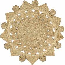 Rogal tapis fait à la main jute tressée 120 cm