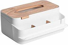 ROKF Boîte à mouchoirs en bois, boîte à