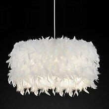 Romantique onirique plume abat-jour lampe de