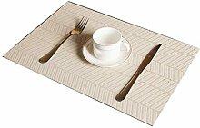 rongweiwang PVC Simple Western Food Table Tapis de
