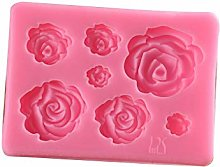 rongweiwang Rose Fleurs Forme Silicone Gâteau