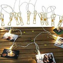 Roomando Guirlande lumineuse en métal avec 10 LED