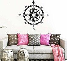 Rose des vents décoration murale style nautique