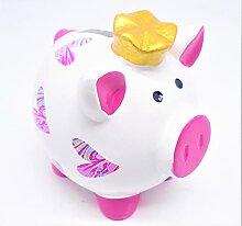 Rose fille cochon tirelire. Économiseur