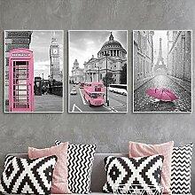 Rose Noir Blanc Mur Art Affiche Imprimer Paris