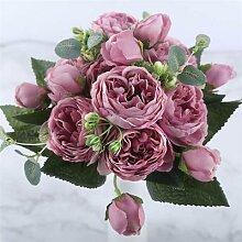 Rose un Bouquet de 5 beau Bouquet faux fleur fête
