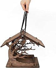 ROSEBEAR Mangeoire à oiseaux en bois en forme de