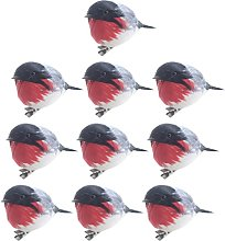 rosenice 10Pcs De Noël Oiseaux Artificiels avec