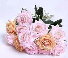 Roses artificielles fraîches, 10 pièces/lot,