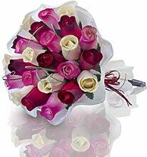 Roses en bois   Bouquet de foi   Couleurs