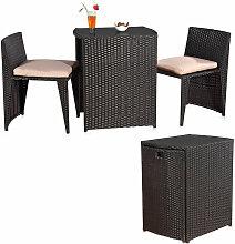 Rotin salon en trois parties, meubles de jardin,