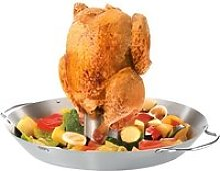 Rôtissoire à poulet et wok pour légumes BBQ