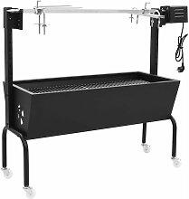 Rotissoire pour barbecue electrique Acier