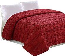 Rouge Couvre-lit, Ultra-doux Couvre-lit 220x240cm
