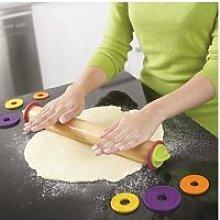 Rouleau à pâtisserie ajustable 4 disques :