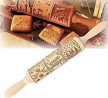 Rouleau à pâtisserie gravé de la nativité -