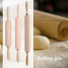 Rouleau à pâtisserie ménager en bois massif,