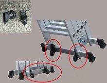 Roulettes mobiles auxiliaires en nylon pour