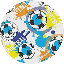 Round Chair Cushions for Dining Chairs Cartoon