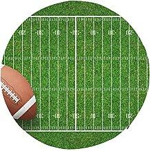 Round Chair Seat Cushion American Football Ball on