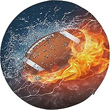 Round Cushion for Chair American Football Ball in