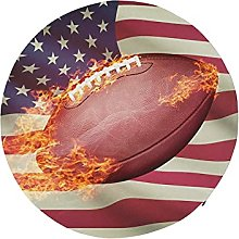 Round Floor Seat American Football Ball with Flag