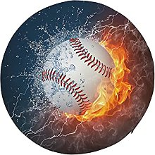 Round Floor Seat Baseball Ball in Fire and Water