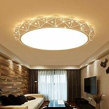 Round LED Salon Plafonnier Moderne Minimaliste