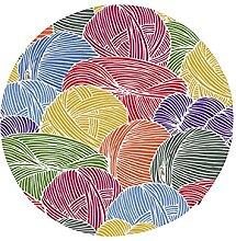Round Memory Foam Seat Cushions Colorful Wool Yarn