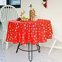 Round Table de Noël Couverture, Lin Coton Art