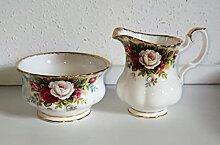 Royal Albert Pot à lait et sucrier original
