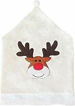 RSTJBH Housse de chaise pour décoration de Noël