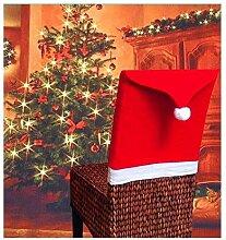 RSTJBH Lot de 4 ou 6 housses de chaise de Noël en