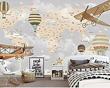 RTYUIHN Papier peint dessin animé carte du monde