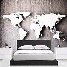 RTYUIHN Papier peint moderne mode mur 3D carte du